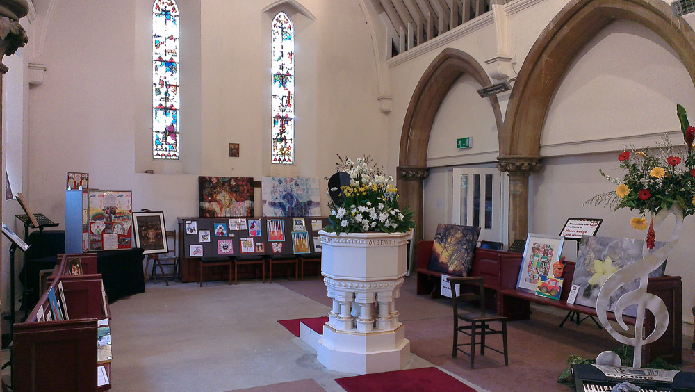 Arts festival March 2014 - North Transept Art Gallery 1 - Copy